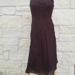 J.Crew Embossed Brown Lorelei Dress 10